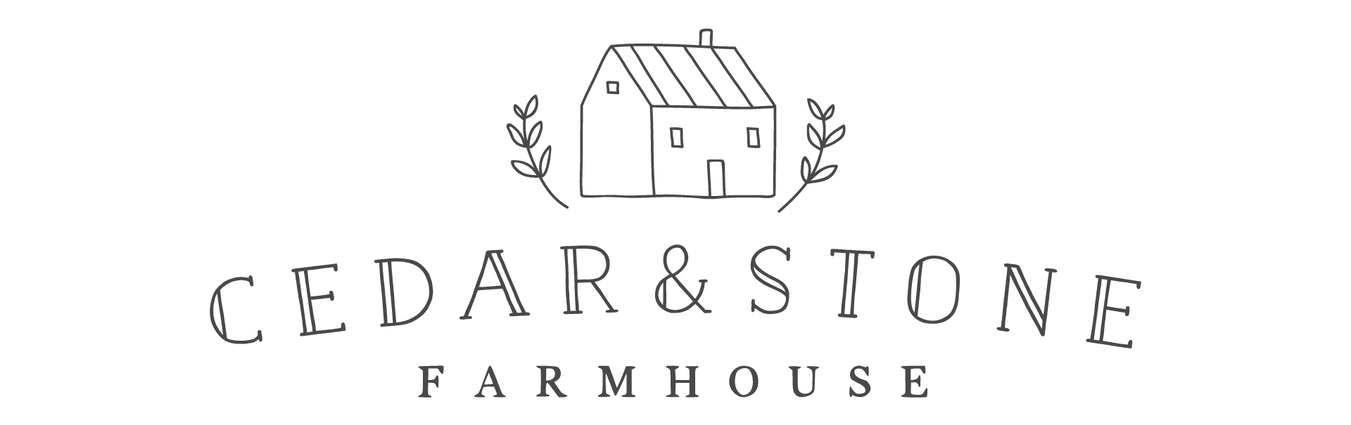 Cedar And Stone Farmhouse Logo