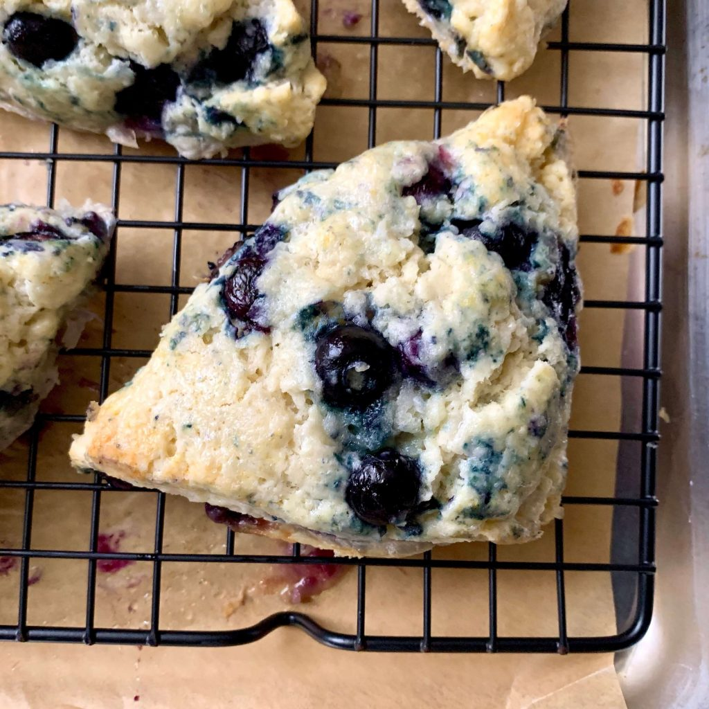 Blueberry Scones with Lemon Frosting