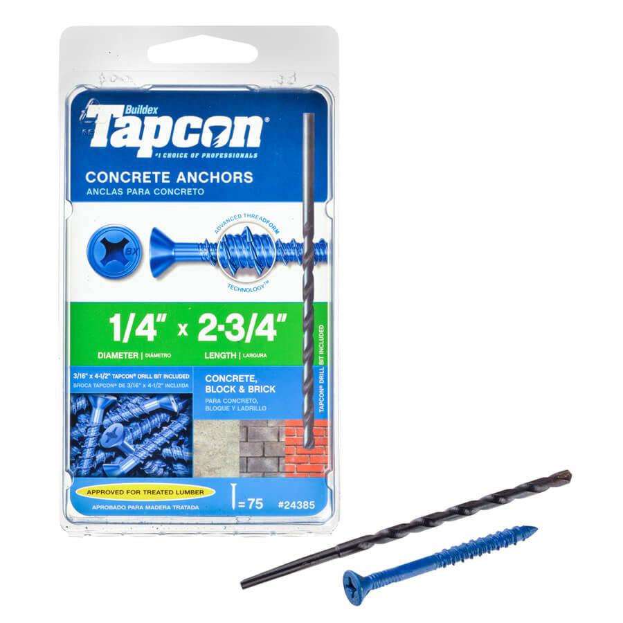 Tapcon Concrete Anchors for DIY Window Boxes