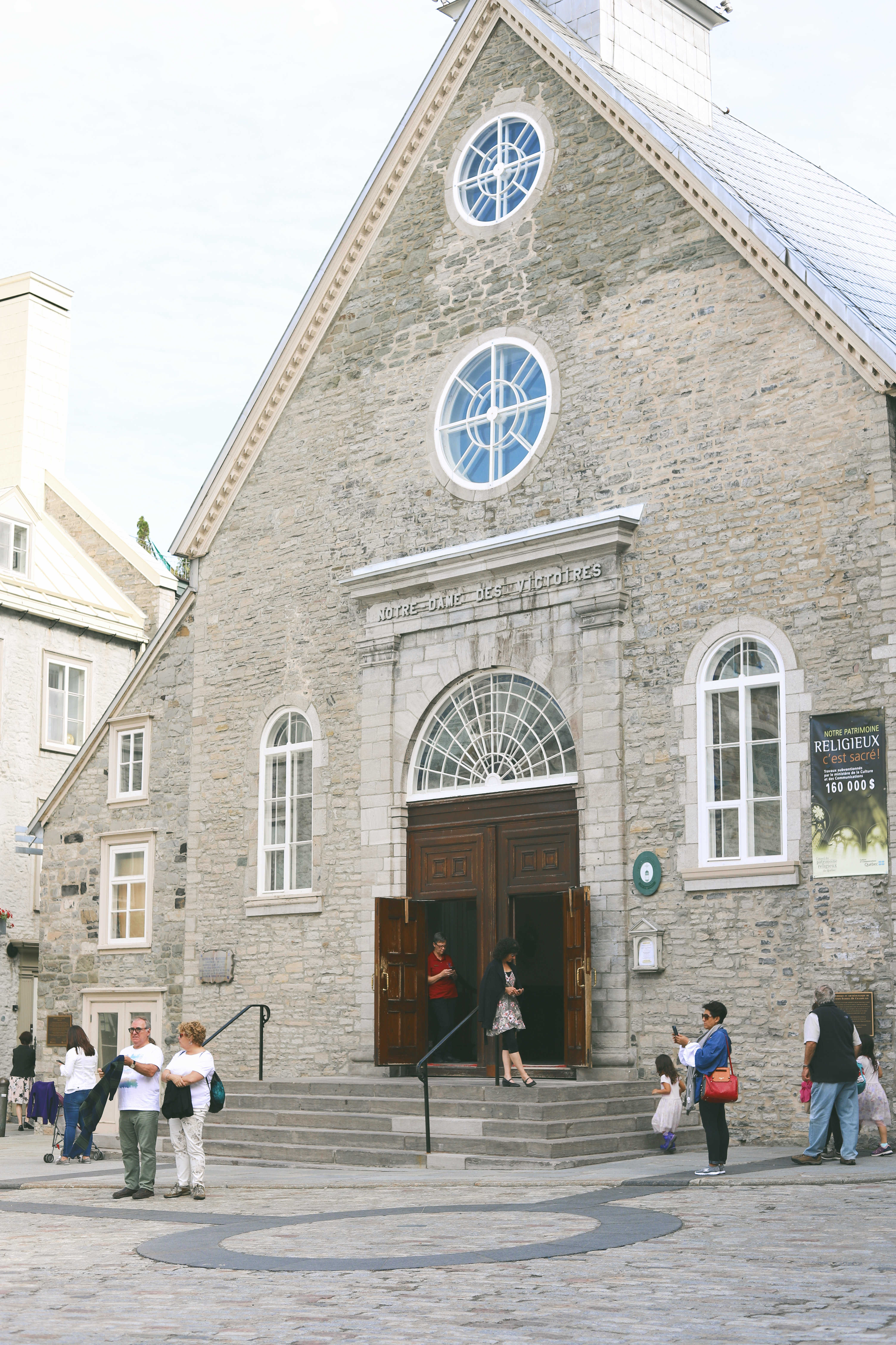 Old Quebec City Notre Dame Des Victoires